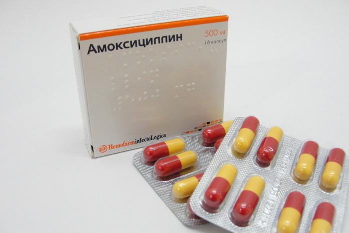 Способ применения Амоксициллина при ангине